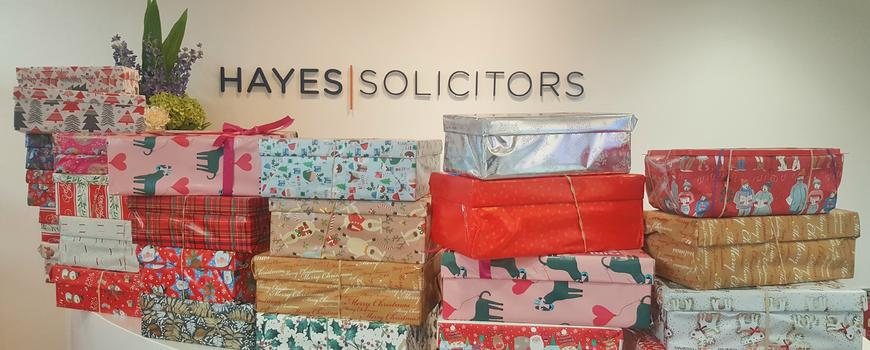 Hayes supports Team Hope's Christmas shoebox appeal 2017 by Hayes News